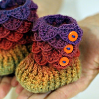 CROCHET PATTERN: Crocodile Stitch Booties (Baby Sizes) - Permission to Sell Finished Product