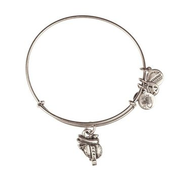 Alex and Ani Horse Saddle Charm Bangle - Russian Silver