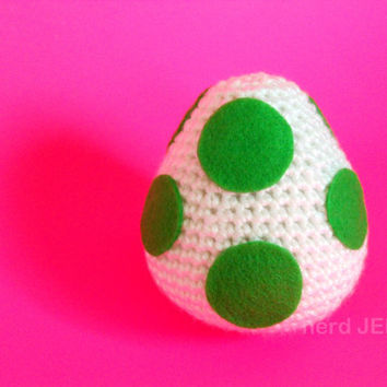 Green Yoshi Egg Cute Amigurumi Plush Inspired by by NerdJerk