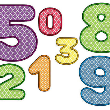 Round numbers applique design instant download machine embroidery design. Birthday numbers applique set. 3 4 5 6 inches round digits set