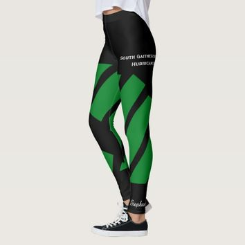Dark Green Team/Club Leggings with Fake Shorts