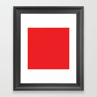 Youtube Red Framed Art Print by spaceandlines