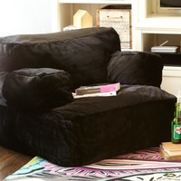 Black Luxe Faux Fur Eco Lounger