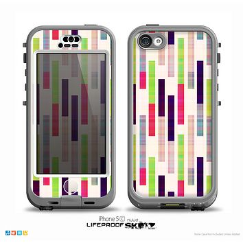 The Colorful Abstract Plaided Stripes Skin for the iPhone 5c nüüd LifeProof Case