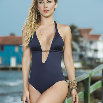 Plunging Neckline Swimsuit