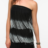 Urban Outfitters - Staring at Stars Strapless Knit Fringe Dress