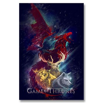 A156 Game Of Thrones Season 5 Hot New USA TV Shows Series Top A4 Art Silk Poster Light Canvas Painting Print Home Decor Room Wal
