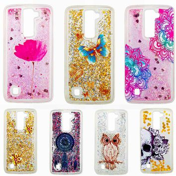 Soft TPU Quicksand Phone Cases For LG K8 LG K350ds K Series K8 LTE K350 PHOENIX 2 K371 K350E Covers Silicone Phone Back Housing