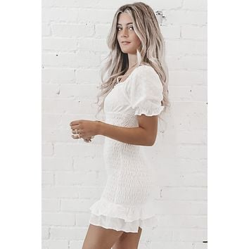 Sparkle In My Eye White Eyelet Dress