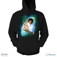 Bob Ross Official Galaxy The Joy of Painting Pullover Hoodie