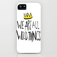 Wild Things II iPhone & iPod Case by Leah Flores