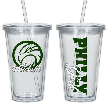 Philadelphia Personalized Acrylic Cup - Perfect Gift - Free Shipping