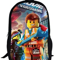 16-inch Cool Mochilas Lego Movie Bag, Children School Bags Lego Backpack For Boys and Girl Aged 7-13.