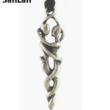 Lover's Embrace Amulet Talisman Charm Pendant Necklace Wicca Wiccan Pagan Metaphysical Spiritual Religious jewelry  SanLan