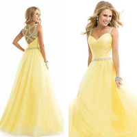 Long Formal Customize Prom Dress Cocktail Party Ball Gown Evening Bridesmaid Dress = 1955588740