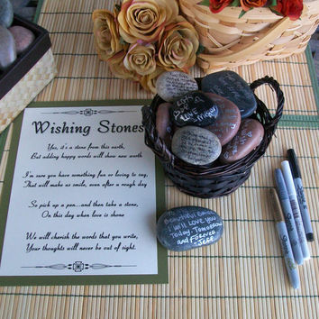 Wishing Stones - Unique Special Occasion or Wedding Guest Book Idea (set of 100)