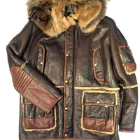 Jakewood - Chocolate Shearling with Fox Collar