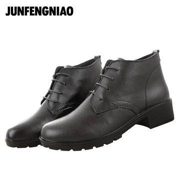 JUNFENGNIAO Women's Shoes Lace-Up Oxford Shoes Platform Zapatos Hombre Chaussure Homme Creepers Ladies Shoes Flats 2017 .DNF6251