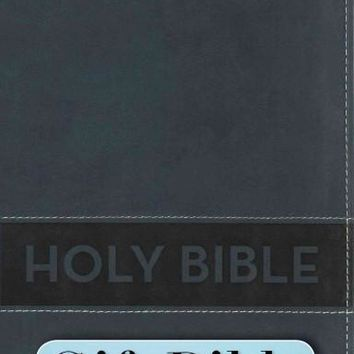 Holy Bible: New International Reader's Version, Slate Blue, Italian Duo-Tone Gift Bible