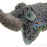 """Pillow Pets Pee Wees Nutty Elephant Seen On TV 2011 11"""" Stuffed Animal Plush Toy"""