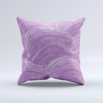 The Purple Brush Strokes ink-Fuzed Decorative Throw Pillow