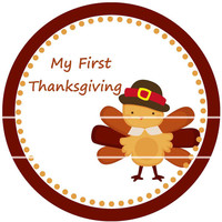 1st Thanksgiving Sticker Baby Monthly Stickers SBS6