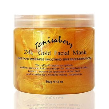 The BEST 24 K Gold Facial Mask Anti Wrinkle Anti Aging Facial Treatment, Pore Minimizer, Acne Scar Treatment & Blackhead Remover