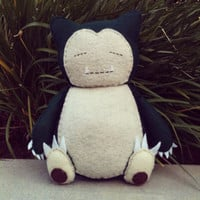 handmade pokemon snorlax stuffed animal