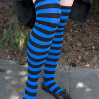 Socks by Sock Dreams » .Socks » Toe Socks » Striped OTK Toe Socks