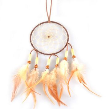 Dream Catcher Rasta Feathers Handmade Wall Car Hanging Ornament Decoration free shipping PTSP