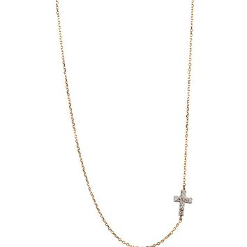 Adina Reyter Tiny Pave Cross Necklace