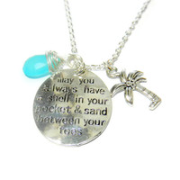 Summer Charm Necklace with Palm Tree