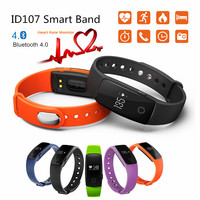 Smart Wristband ID 107 ID107 Watch Heart Rate Monitor Remote Bluetooth SMart Band Bracelet Pedometer Fitness SmartBand Reminder