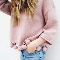 Sweet Pom Sweater