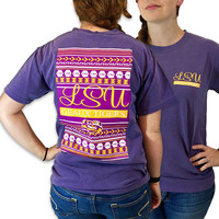 Louisiana State LSU Tigers Preppy Logo Comfort Colors T-Shirt