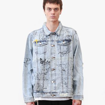 Hand Art Destroyed Denim Jacket