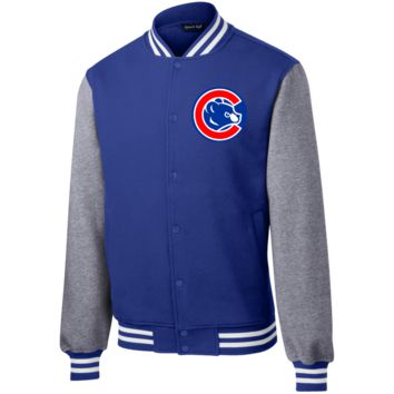 Bear Inside C Fleece Letterman Jacket