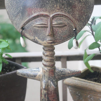 Vintage Wood Ashanti (Asante) African Fertility Doll, African Carving, Antique Alchemy