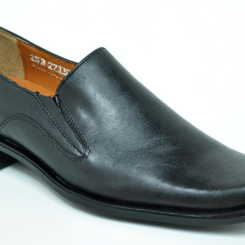 Baronett 7715 Men's Genuine Leather Black Dress Shoes