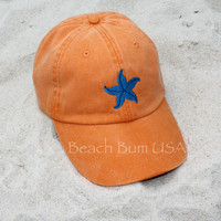 Starfish Baseball Cap Adams Orange Beach Hat