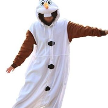 Amour - Sleepsuit Pajamas Costume Cosplay Homewear Lounge Wear (S, olaf)