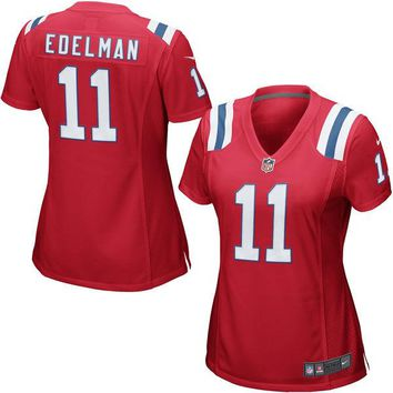 Women's New England Patriots Julian Edelman Nike Red Game Jersey
