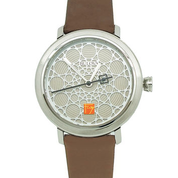Frank Lloyd Wright S.C. Johnson Ladies Watch Silver