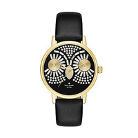 Kate Spade Metro Owl Strap Watch Black ONE