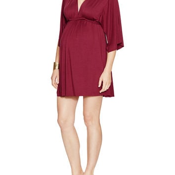 Rachel Pally Maternity Mini Caftan Dress - Pink -