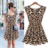CHIC LEOPARD COCKTAIL DAY DRESS