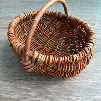 Willow basket Wicker basket Vintage Rustic basket Flower girl basket Rustic wedding Easter basket Basket Wicker storage Basket Wedding