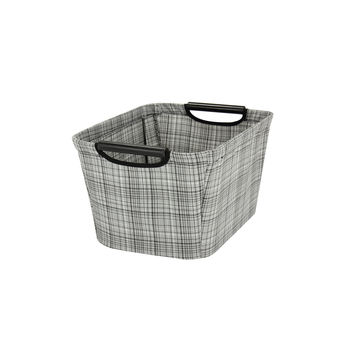 Household Essentials 610-1 Small Tapered Storage Bin With Wood Handles