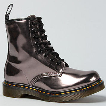 The 1460 8-Eye Boot in Pewter Korom Flash