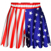 The Stars and Stripes Print Loose Culottes